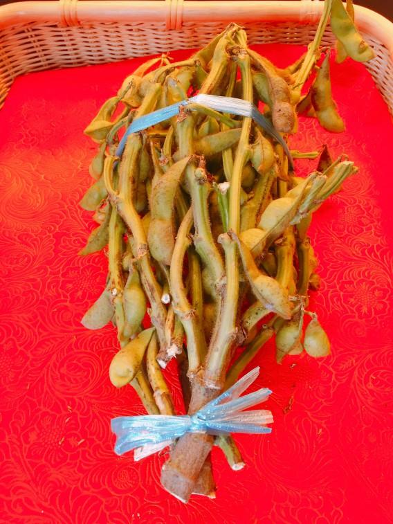 住吉区の八百屋さん 味菜実さんとこで丹波篠山の黒枝豆を買う